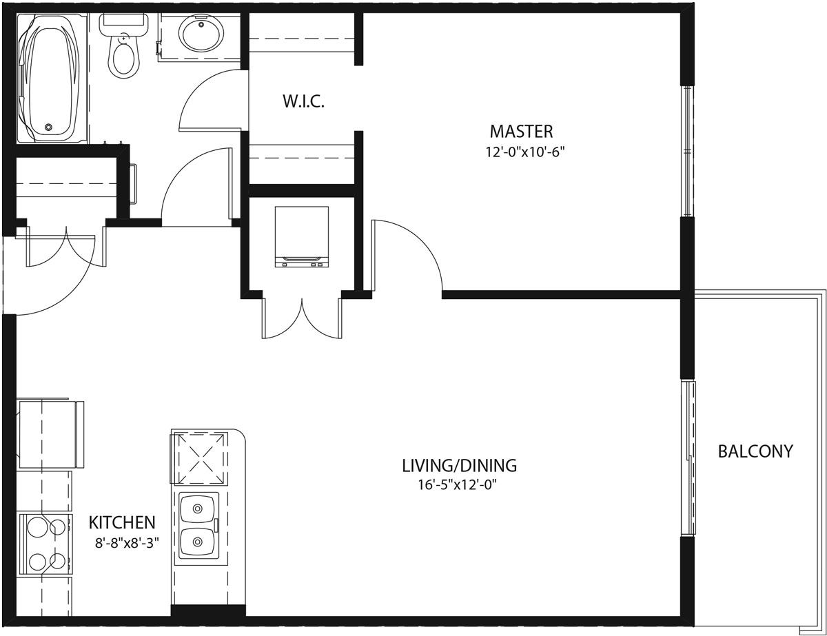 Floor Plan Suit A-1