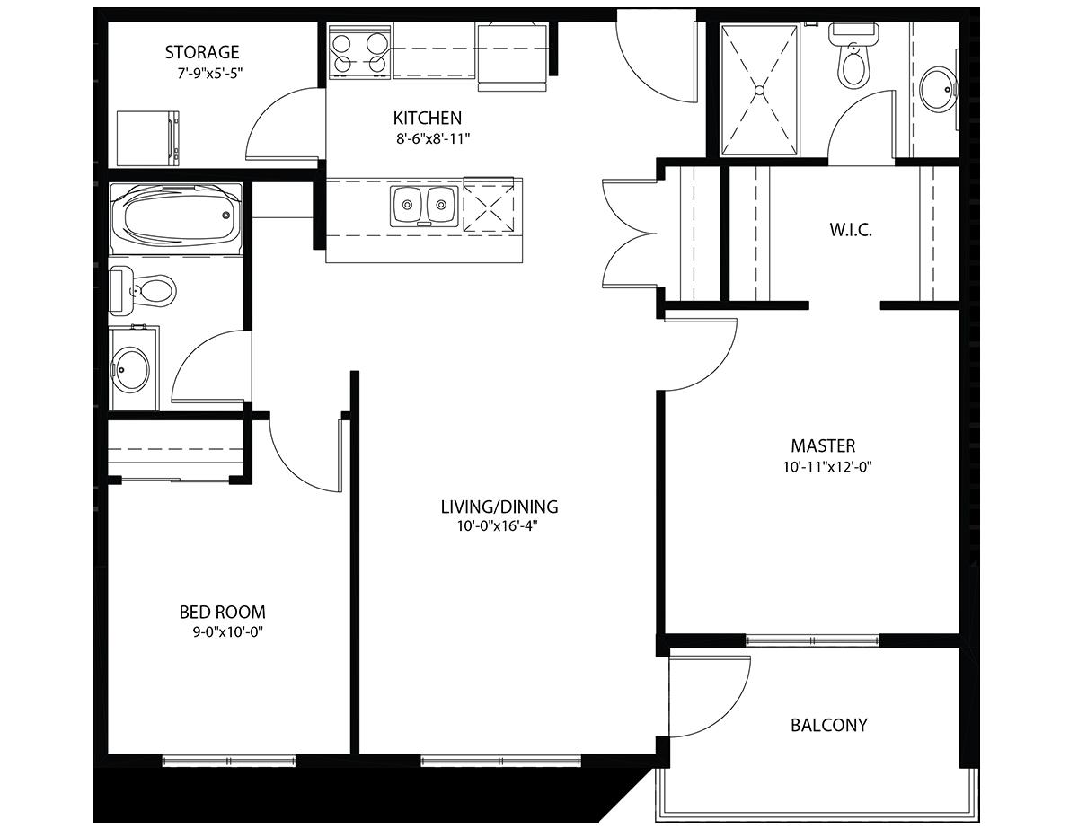 Floor Plan Suit E